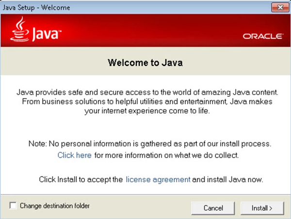 java runtime environment下載