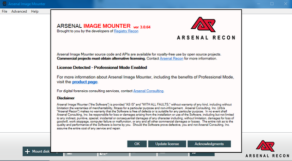 Arsenal Image Mounter下载截图