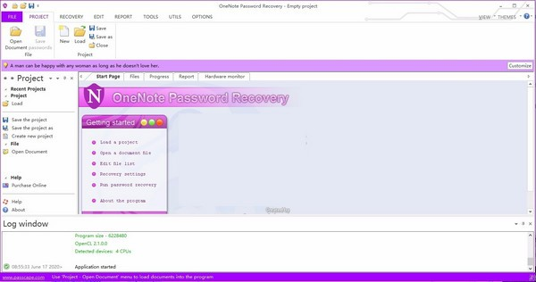 OneNote Password Recovery
