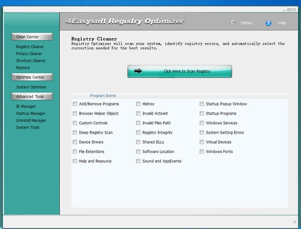 4Easysoft Registry Cleaner免费版