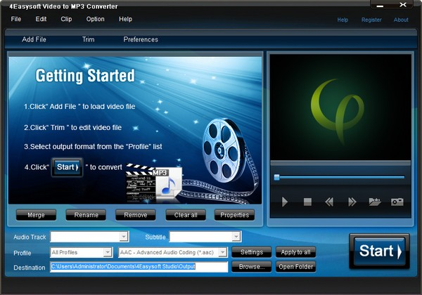 4Easysoft Video to MP3 Converter中文版